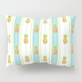 Vintage Glitter Pineapples Pillow Sham