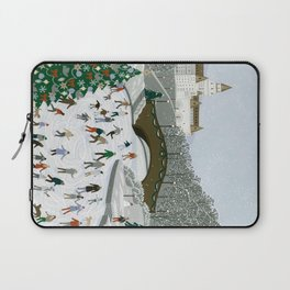 Ice skating pond Laptop Sleeve