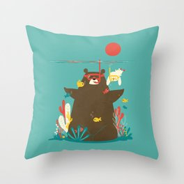 Snorkelling Throw Pillow