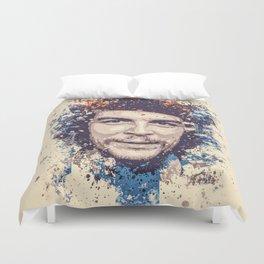 Che Guevara splatter painting Duvet Cover