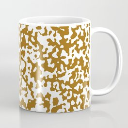 Small Spots - White and Golden Brown Coffee Mug