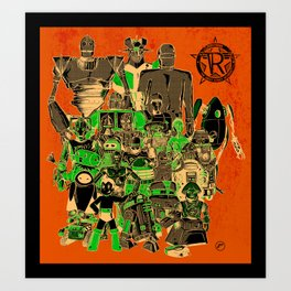 Robo-rama : The Great Robot Reunion Art Print