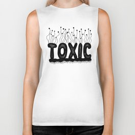Toxic Cute Typography Design Biker Tank