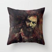 daryl Throw Pillows featuring Daryl Dixon by Sirenphotos