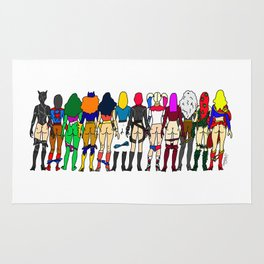 Superhero-ine Butts - Group Rug