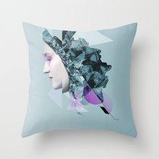 Faces Blue 04 Throw Pillow