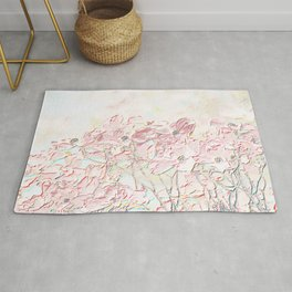 ABSTRACT PINK DOGWOOD BLOSSOMS Rug