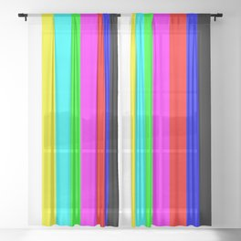 SMPTE color bars | TV Color Test Bars | Stand By Colour Bars Sheer Curtain