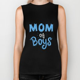 Mom of Boys. - Gift Biker Tank