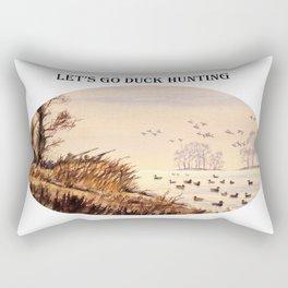 LET'S GO DUCK HUNTING Rectangular Pillow