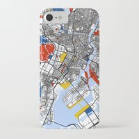 mondrian iPhone & iPod Cases featuring Tokyo Mondrian by Mondrian Maps