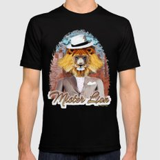 mister Lion Black Mens Fitted Tee LARGE
