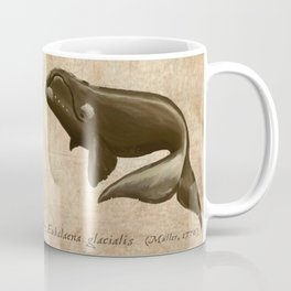 North Atlantic Right Whale, Digital Illustration by Amber Marine (Copyright 2015) Coffee Mug