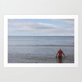 Old man and sea Art Print