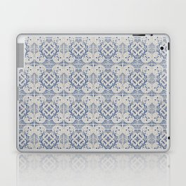 Vintage blue tiles pattern Laptop & iPad Skin