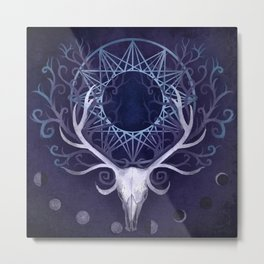 Season Of The Moon's Winter Fire Metal Print