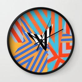strange stripes Wall Clock