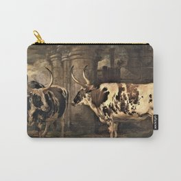 13,000px,600dpi-James Ward - ortraits of two extraordinary oxen, the property of the Earl of Powis - Digital Remastered Edition Carry-All Pouch