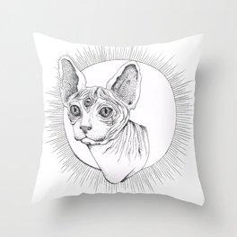 Third Eye Rex Throw Pillow