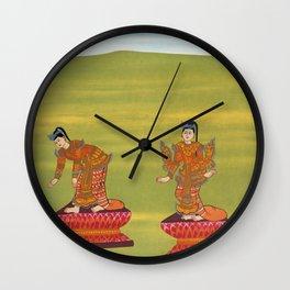 35 Lady Humpback (Shingn nat) and 36 Lady Bandy Legs (Shingw nat) from The thirty-seven nats  a phas Wall Clock