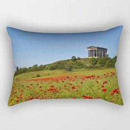 Penshaw Monument Poppys Rectangular Pillow