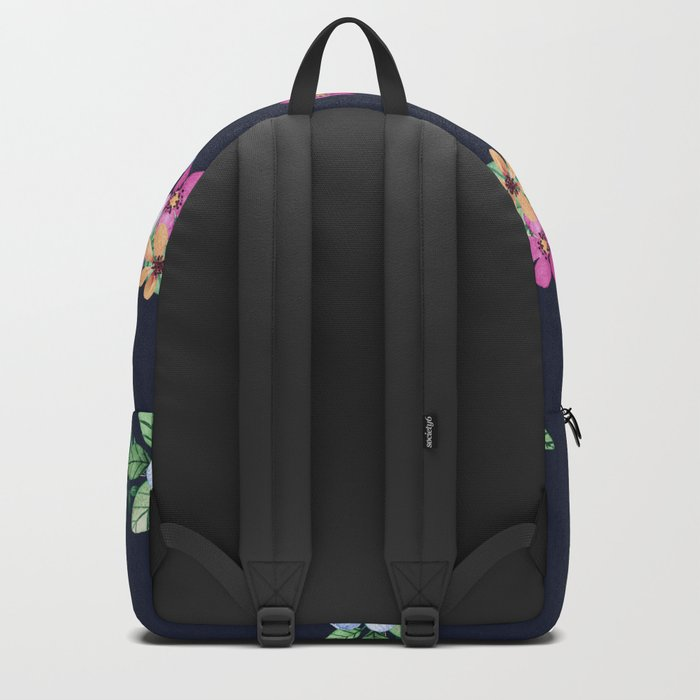 Navy Garden Flowers Backpack