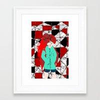 madoka magica Framed Art Prints featuring Madoka Magica - Kyoko by Shim Kirosiki