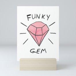 FUNKY GEM Mini Art Print