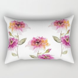 watercolor Dahlia Rectangular Pillow
