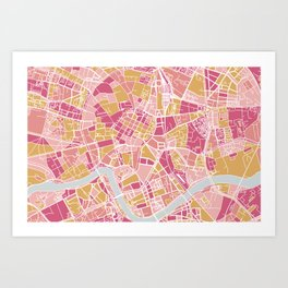 Cracow map Art Print