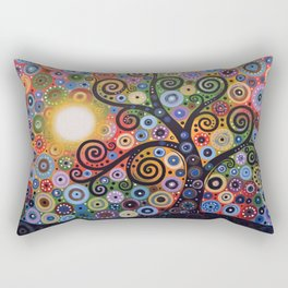 Abstract Art Landscape Original Painting ... Memory of Magic Rectangular Pillow