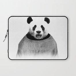 F*ck the world, I'm a Panda. Laptop Sleeve