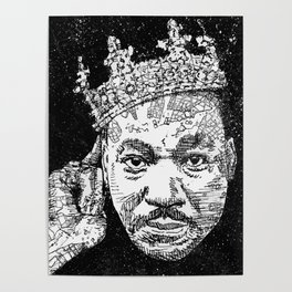 Martin Luther drawing illustration Poster