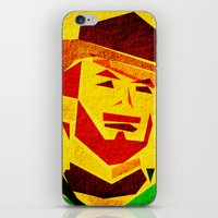 clint barton iPhone & iPod Skins featuring Clint by Triplea