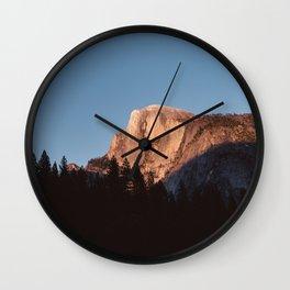 Half Dome Sunset Wall Clock