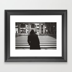 black hood Framed Art Print