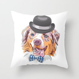 Australian Shepherd For Dog Lovers Throw Pillow