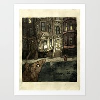 rat Art Prints featuring Rat by Jordan Walsh