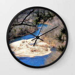 Climbing Up Sparrowhawk Mountain above the Illinois River, No. 6 of 8 Wall Clock