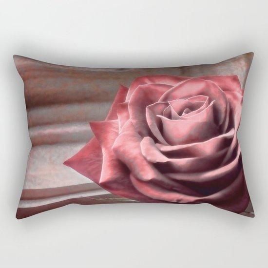Love Is A Rose Rectangular Pillow