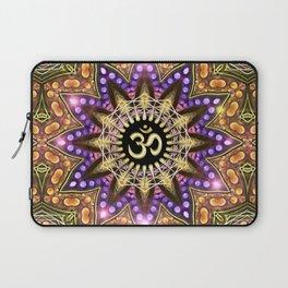 OM SHANTI Magic Lights Mandala Laptop Sleeve