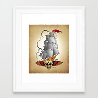 ship Framed Art Prints featuring ship by mark ashkenazi