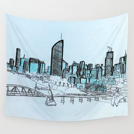 BRISBANE POSTCARD SERIES 010 Wall Tapestry