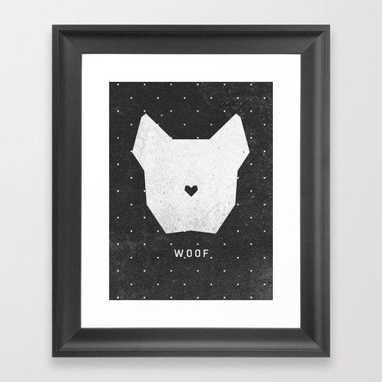 WOOF Framed Art Print