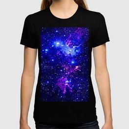 Fox Fur Nebula Galaxy blue purple T-Shirt