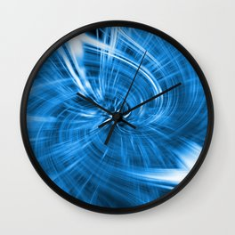 Blue abstraction Wall Clock