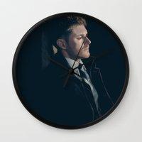 dean winchester Wall Clocks featuring Dean Winchester. Season 9 by Armellin