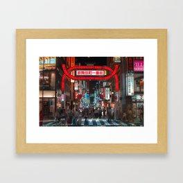 Shinjuku Night Walks Framed Art Print
