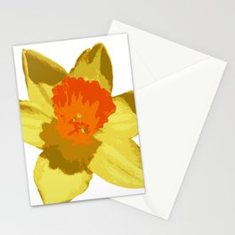 Spring Daffodil Vector Isolated Stationery Cards