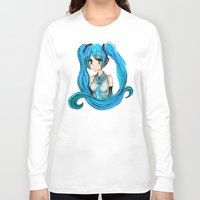 vocaloid Long Sleeve T-shirts featuring Hatsune Miku by Tiffany Willis